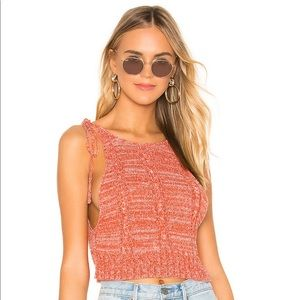 NWT Original package Free People open knit tank S